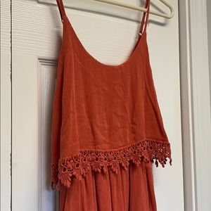Orange forever21 dress with lace detail